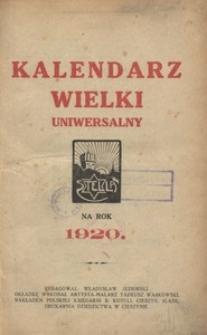 Kalendarz Wielki Uniwersalny. Na rok 1920