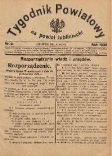 Tygodnik Powiatowy na Powiat Lubliniecki, 1930, nr9