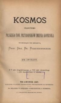 Kosmos, 1887, R. 12