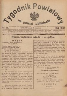 Tygodnik Powiatowy na Powiat Lubliniecki, 1930, nr23