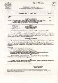 Dziennik Urzędowy Województwa Katowickiego, 1998, nr14