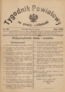 Tygodnik Powiatowy na Powiat Lubliniecki, 1930, nr50