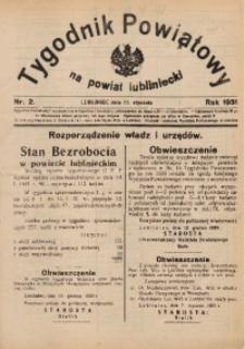 Tygodnik Powiatowy na Powiat Lubliniecki, 1931, nr2