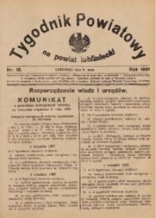 Tygodnik Powiatowy na Powiat Lubliniecki, 1931, nr18
