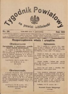 Tygodnik Powiatowy na Powiat Lubliniecki, 1931, nr39
