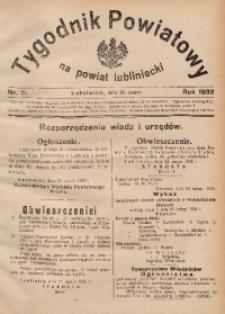 Tygodnik Powiatowy na Powiat Lubliniecki, 1932, nr11