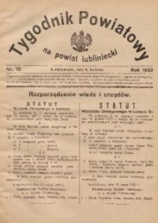 Tygodnik Powiatowy na Powiat Lubliniecki, 1932, nr13