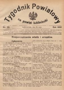 Tygodnik Powiatowy na Powiat Lubliniecki, 1932, nr20