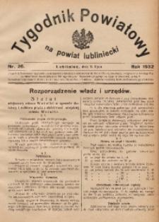 Tygodnik Powiatowy na Powiat Lubliniecki, 1932, nr26