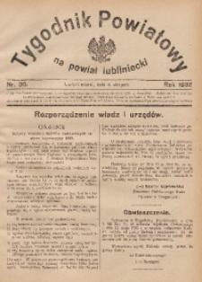 Tygodnik Powiatowy na Powiat Lubliniecki, 1932, nr30