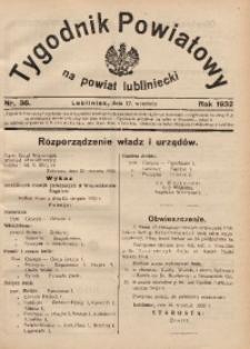Tygodnik Powiatowy na Powiat Lubliniecki, 1932, nr36
