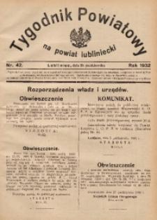 Tygodnik Powiatowy na Powiat Lubliniecki, 1932, nr42