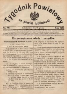 Tygodnik Powiatowy na Powiat Lubliniecki, 1932, nr48