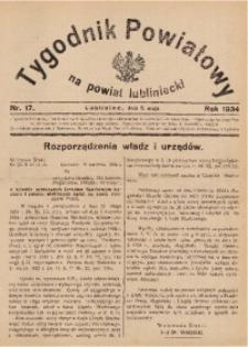 Tygodnik Powiatowy na Powiat Lubliniecki, 1934, nr17