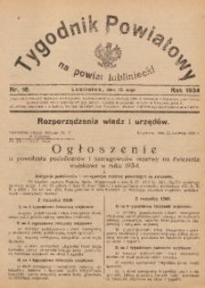Tygodnik Powiatowy na Powiat Lubliniecki, 1934, nr18