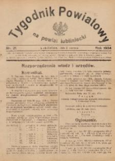 Tygodnik Powiatowy na Powiat Lubliniecki, 1934, nr21