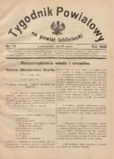Tygodnik Powiatowy na Powiat Lubliniecki, 1936, nr12 (28 marca)