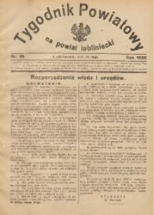 Tygodnik Powiatowy na Powiat Lubliniecki, 1936, nr19