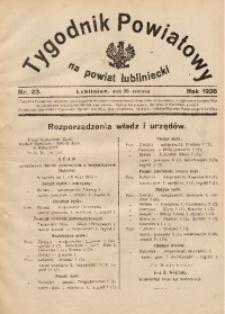 Tygodnik Powiatowy na Powiat Lubliniecki, 1936, nr23