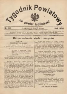 Tygodnik Powiatowy na Powiat Lubliniecki, 1936, nr32