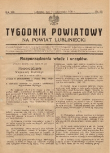 Tygodnik Powiatowy na Powiat Lubliniecki, 1936, nr39