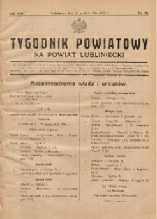 Tygodnik Powiatowy na Powiat Lubliniecki, 1936, nr40