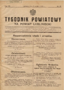 Tygodnik Powiatowy na Powiat Lubliniecki, 1936, nr47