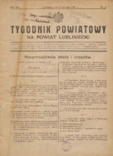 Tygodnik Powiatowy na Powiat Lubliniecki, 1937, nr1