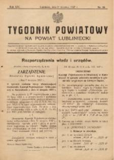 Tygodnik Powiatowy na Powiat Lubliniecki, 1937, nr34