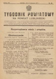 Tygodnik Powiatowy na Powiat Lubliniecki, 1937, nr43