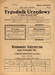 Tygodnik Urzędowy na Miasto Królewską Hutę, 1929, nr20
