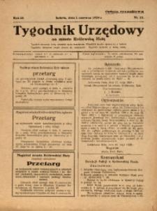 Tygodnik Urzędowy na Miasto Królewską Hutę, 1929, nr22