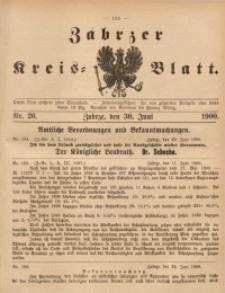 Zabrzer Kreis-Blatt, 1900, St. 26