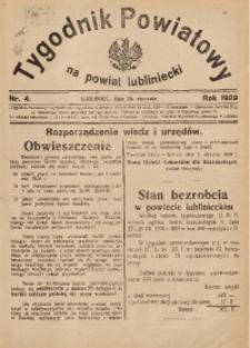 Tygodnik Powiatowy na Powiat Lubliniecki, 1929, nr4