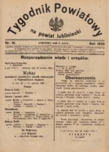 Tygodnik Powiatowy na Powiat Lubliniecki, 1929, nr10