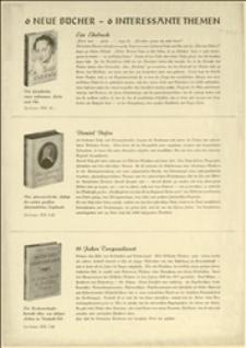 Prospekt reklamowy 6 nowości wydawniczych
