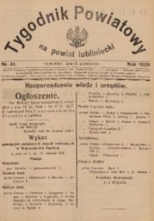 Tygodnik Powiatowy na Powiat Lubliniecki, 1929, nr41