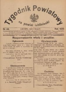 Tygodnik Powiatowy na Powiat Lubliniecki, 1929, nr44