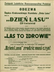 """Afisz w związku z """"Dniem Lasu"""" w 1939 r."""