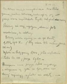 Notatki Tadeusza Regera dotyczące Ostrawy