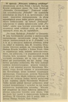 """W sprawie """"Wieczoru żołnierza polskiego"""""""
