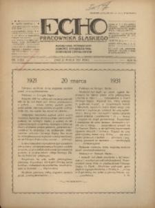 Echo Pracownika Śląskiego, 1931, R.12, nr3