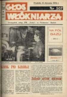 """Głos Włókniarza : dwutygodnik załogi ZPB """"Frotex"""" im. Powstańców Śląskich. R. 25, nr 507 [509]."""