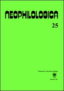 Neophilologica. Vol. 25