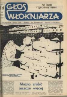 """Głos Włókniarza : dwutygodnik załogi ZPB """"Frotex"""" im. Powstańców Śląskich. R. 25, nr 528 [530]."""