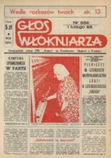 """Głos Włókniarza : dwutygodnik załogi ZPB """"Frotex"""" im. Powstańców Śląskich. R. 26, nr 532 [534]."""