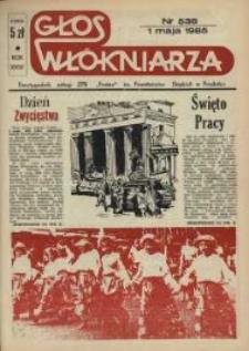 """Głos Włókniarza : dwutygodnik załogi ZPB """"Frotex"""" im. Powstańców Śląskich. R. 26, nr 538 [540]."""