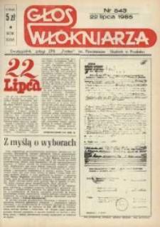 """Głos Włókniarza : dwutygodnik załogi ZPB """"Frotex"""" im. Powstańców Śląskich. R. 26, nr 543 [545]."""