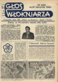"""Głos Włókniarza : dwutygodnik załogi ZPB """"Frotex"""" im. Powstańców Śląskich. R. 26, nr 545 [547]."""