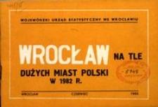 Wrocław na tle dużych miast Polski w 1982 r.